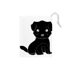 Affenpinscher Cartoon Drawstring Pouch (Small)