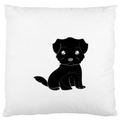 Affenpinscher Cartoon Standard Flano Cushion Case (One Side)