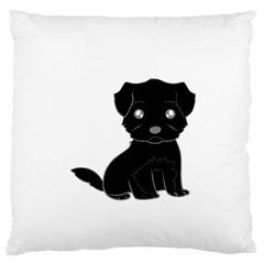 Affenpinscher Cartoon Large Flano Cushion Case (Two Sides)