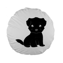 Affenpinscher Cartoon Standard 15  Premium Flano Round Cushion