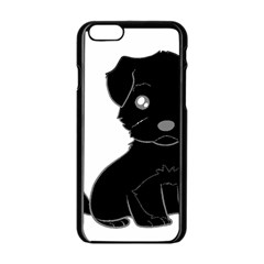 Affenpinscher Cartoon Apple iPhone 6 Black Enamel Case