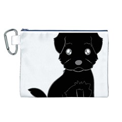 Affenpinscher Cartoon Canvas Cosmetic Bag (Large)