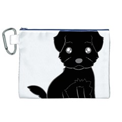 Affenpinscher Cartoon Canvas Cosmetic Bag (XL)