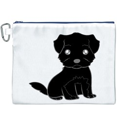 Affenpinscher Cartoon Canvas Cosmetic Bag (XXXL)