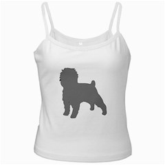 Affenpinscher Color Grey Silo White Spaghetti Tank