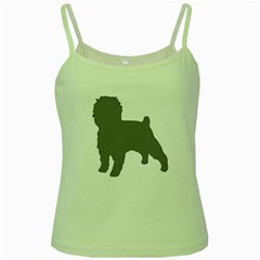 Affenpinscher Color Grey Silo Green Spaghetti Tank