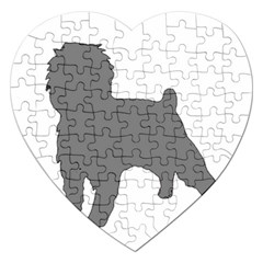 Affenpinscher Color Grey Silo Jigsaw Puzzle (Heart)