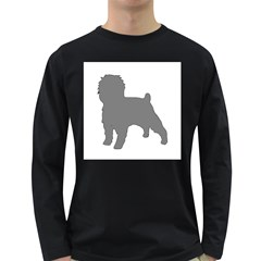 Affenpinscher Color Grey Silo Men s Long Sleeve T-shirt (Dark Colored)