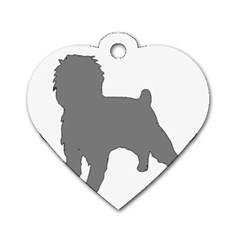 Affenpinscher Color Grey Silo Dog Tag Heart (One Sided)