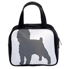 Affenpinscher Color Grey Silo Classic Handbag (Two Sides)