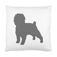 Affenpinscher Color Grey Silo Cushion Case (Two Sided)