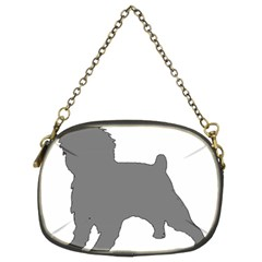 Affenpinscher Color Grey Silo Chain Purse (Two Sided)