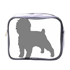 Affenpinscher Color Grey Silo Mini Travel Toiletry Bag (One Side)