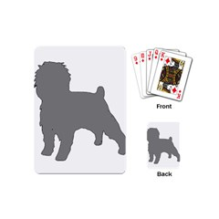 Affenpinscher Color Grey Silo Playing Cards (Mini)