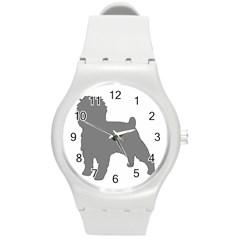 Affenpinscher Color Grey Silo Plastic Sport Watch (Medium)
