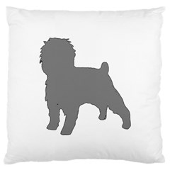 Affenpinscher Color Grey Silo Large Cushion Case (Two Sided)