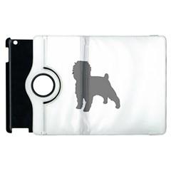 Affenpinscher Color Grey Silo Apple iPad 3/4 Flip 360 Case