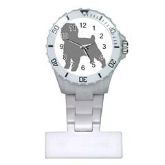 Affenpinscher Color Grey Silo Nurses Watch