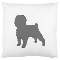 Affenpinscher Color Grey Silo Standard Flano Cushion Case (One Side)