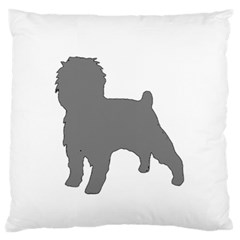 Affenpinscher Color Grey Silo Large Flano Cushion Case (Two Sides)