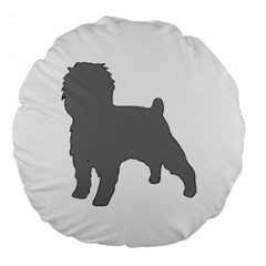 Affenpinscher Color Grey Silo Large 18  Premium Flano Round Cushion