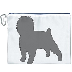 Affenpinscher Color Grey Silo Canvas Cosmetic Bag (XXXL)
