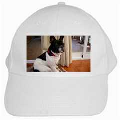 Sitting 3 French Bulldog White Baseball Cap