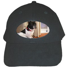 Sitting 3 French Bulldog Black Baseball Cap