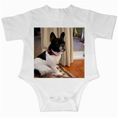 Sitting 3 French Bulldog Infant Bodysuit