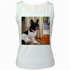 Sitting 3 French Bulldog Women s Tank Top (White)