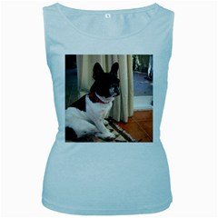 Sitting 3 French Bulldog Women s Tank Top (Baby Blue)