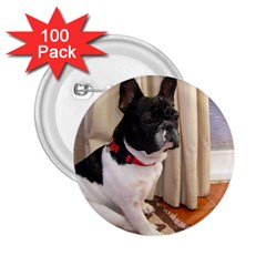 Sitting 3 French Bulldog 2.25  Button (100 pack)