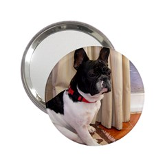 Sitting 3 French Bulldog Handbag Mirror (2.25 )