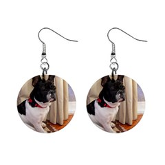 Sitting 3 French Bulldog Mini Button Earrings