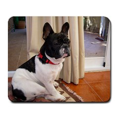 Sitting 3 French Bulldog Large Mouse Pad (Rectangle)