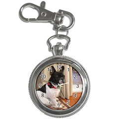 Sitting 3 French Bulldog Key Chain Watch