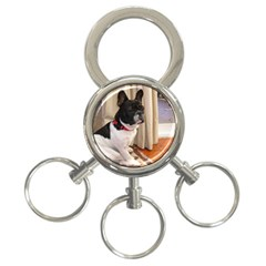 Sitting 3 French Bulldog 3-Ring Key Chain