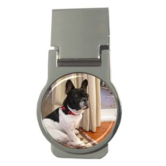 Sitting 3 French Bulldog Money Clip (Round)