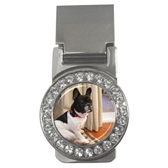Sitting 3 French Bulldog Money Clip (CZ)