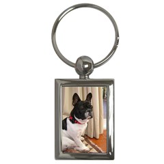 Sitting 3 French Bulldog Key Chain (Rectangle)