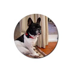 Sitting 3 French Bulldog Drink Coaster (Round)