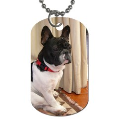 Sitting 3 French Bulldog Dog Tag (One Sided)