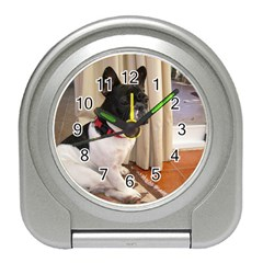 Sitting 3 French Bulldog Desk Alarm Clock