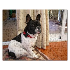 Sitting 3 French Bulldog Jigsaw Puzzle (Rectangle)