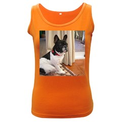 Sitting 3 French Bulldog Women s Tank Top (Dark Colored)