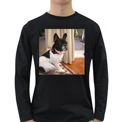 Sitting 3 French Bulldog Men s Long Sleeve T-shirt (Dark Colored)