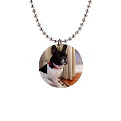Sitting 3 French Bulldog Button Necklace