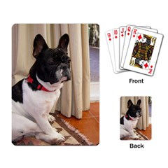 Sitting 3 French Bulldog Playing Cards Single Design