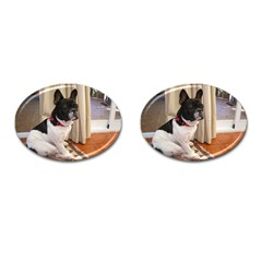 Sitting 3 French Bulldog Cufflinks (Oval)