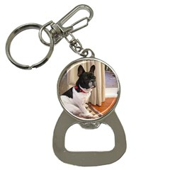 Sitting 3 French Bulldog Bottle Opener Key Chain
